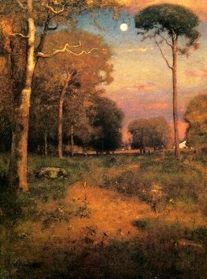 George Inness - Early Moonrise, Florida (or Early Morning, Florida)