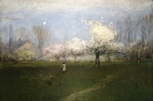 George Inness - Spring Blossoms, Montclair, New Jersey