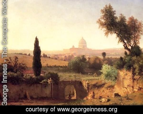 George Inness - St. Peter's, Rome