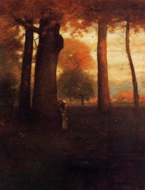 George Inness - Sunset, Golden Glow