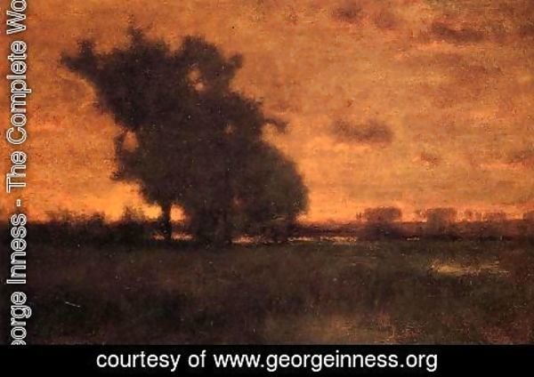 George Inness - Sunset at Milton