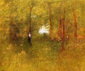 George Inness - Woodland Interior