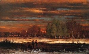George Inness - Winter Evening, Montclair