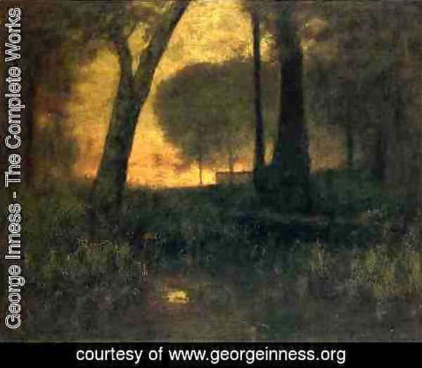 George Inness - The Brook