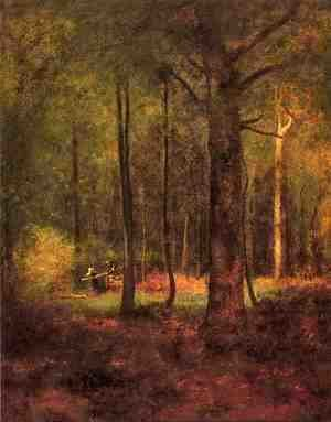 George Inness - Woods at Montclaiir