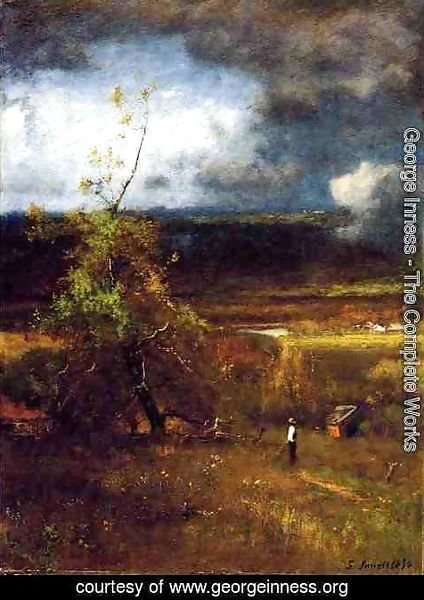 George Inness - Gethering Clouds