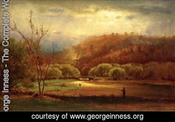 George Inness - Fishing
