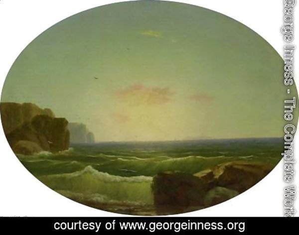 George Inness - Marine off Big Rock