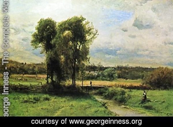 George Inness - Landscape with Figures