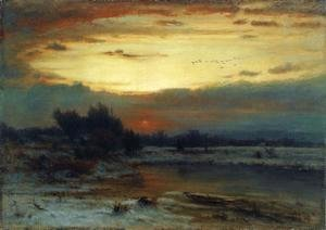 George Inness - Winter, Close of Day