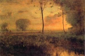 George Inness - Sunset at Montclair