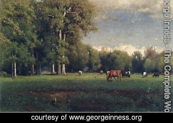 George Inness - Landscape with Cattle
