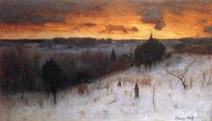 George Inness - Winter Evening
