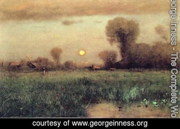 George Inness - Harvest Moon I