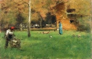 George Inness - The Old Barn