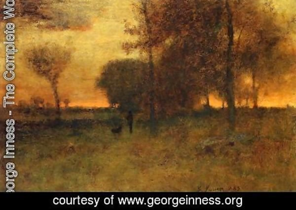 George Inness - Sunset Glow