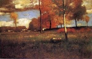 George Inness - Near the Village, October