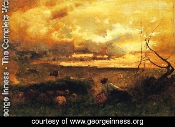 George Inness - Golden Sunset