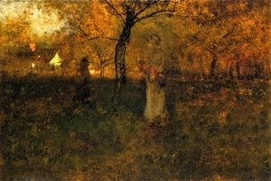 George Inness - In the Orchard, Milton