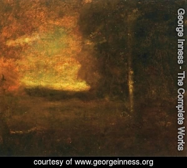 George Inness - Sunset Landscape I