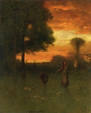George Inness - Sunset II