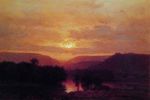George Inness - Sunset III