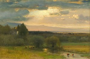 George Inness - Hudson Valley