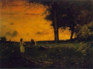 George Inness - Sunset at Montclair 2