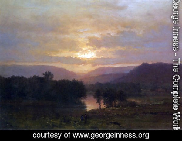 George Inness - Sunset 2