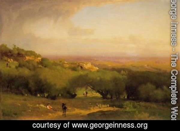 George Inness - The Alban Hills