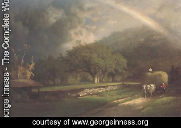 George Inness - The Rainbow In The Berkshire Hills 1869