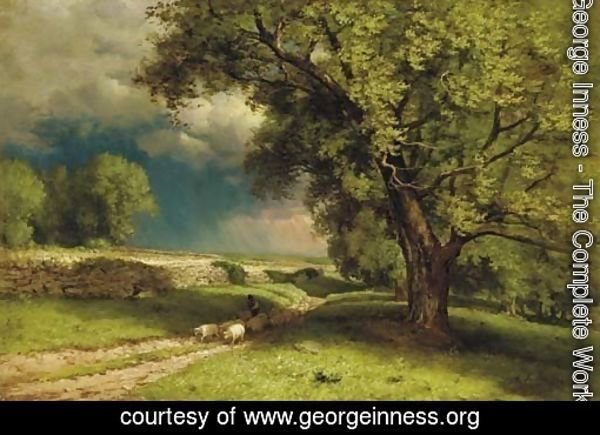 Landscape with Sheep 2