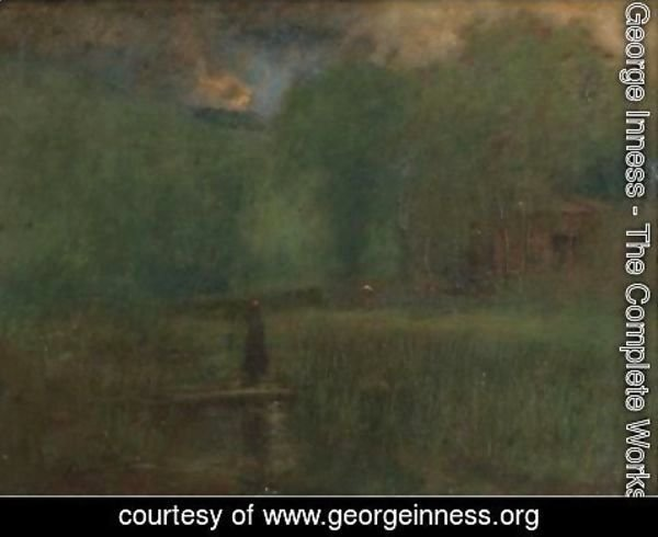 George Inness - Sundown 2