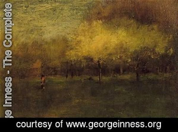 George Inness - Apple blossoms