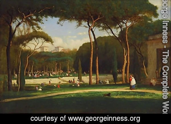 George Inness - The Villa Borghese, Rome, 1871
