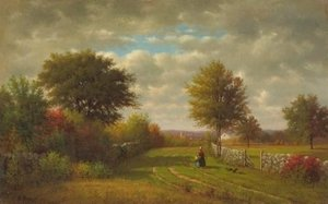 George Inness - Going To Market