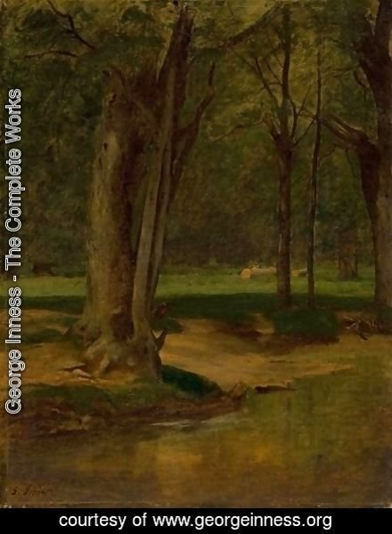 George Inness - Trout Stream, North Conway