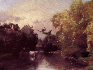 George Inness - The Pequonic  New Jersey