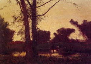 George Inness - Sunset