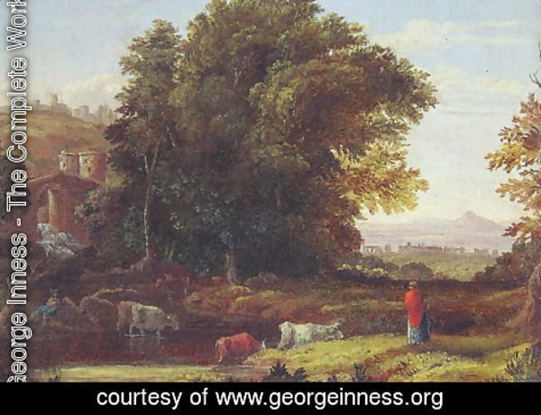 George Inness - Italian Lanscape With Adueduct