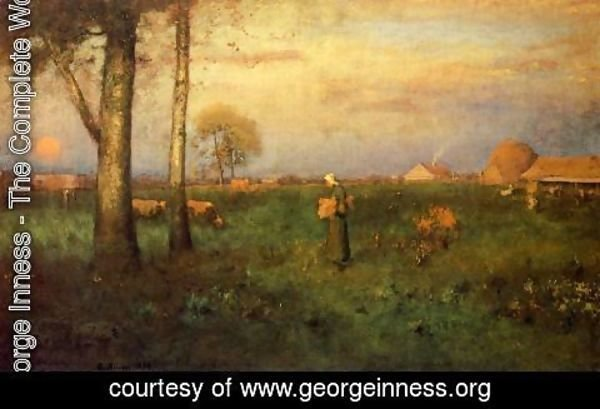 George Inness - Sundown