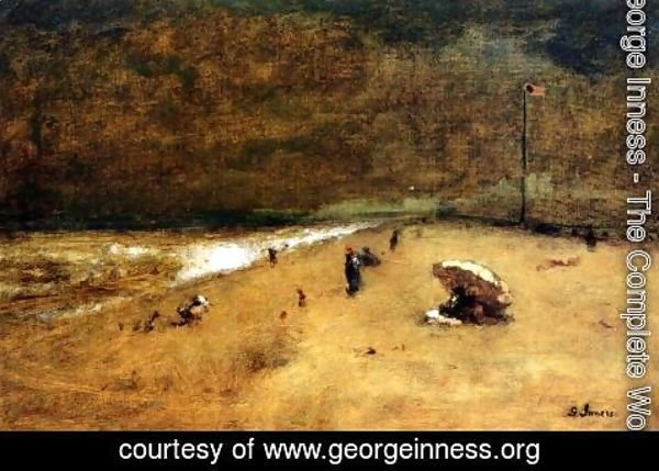 George Inness - Along The Jersey Shore