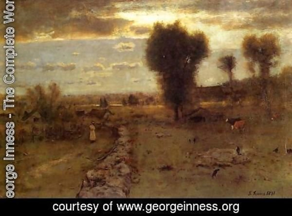 George Inness - The Clouded Sun