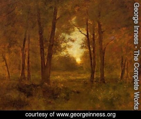 George Inness - Sundown Near Montclair