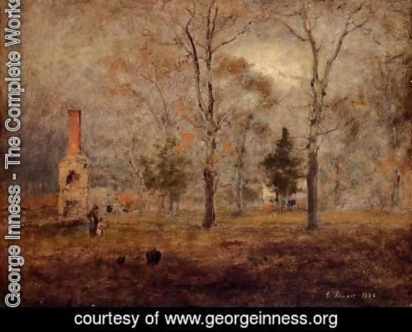 George Inness - Gray Day  Goochland  Virgnia