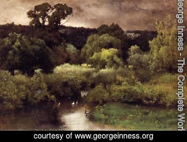 George Inness - A Gray  Lowery Day