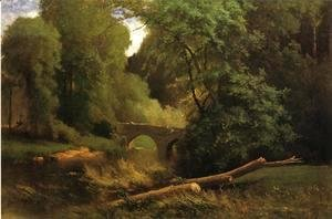 George Inness - Cromwell's Bridge