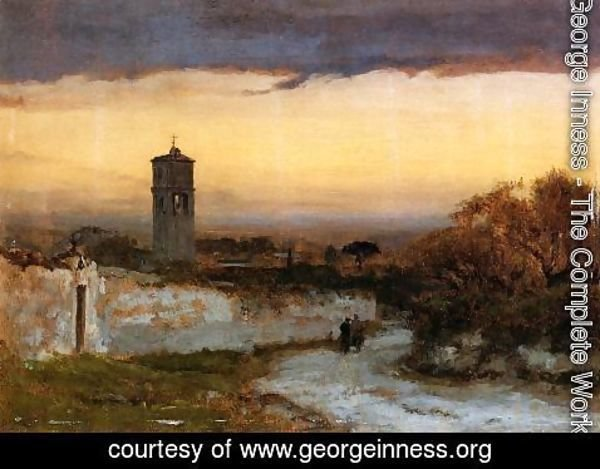 George Inness - Monastery At Albano