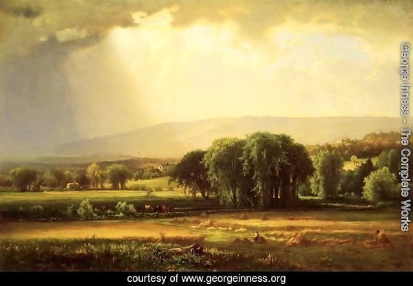 Harvest Scene In The Delaware Valley