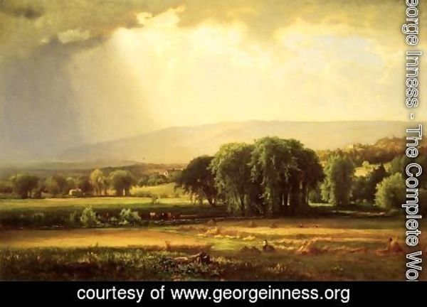 George Inness - Harvest Scene In The Delaware Valley